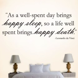 Happy Sleep Happy Death Wall Decal