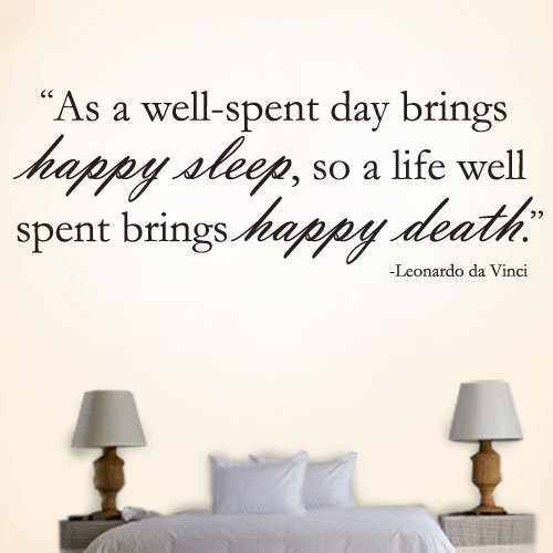 View Product Happy Sleep Happy Death Wall Decal