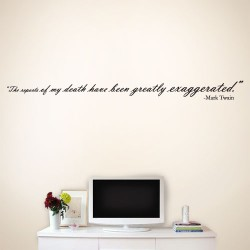 Death Exaggerated Wall Decal