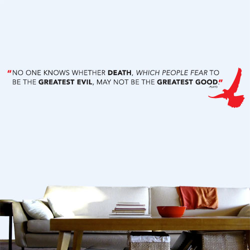 View Product Death Greatest Good Wall Decal