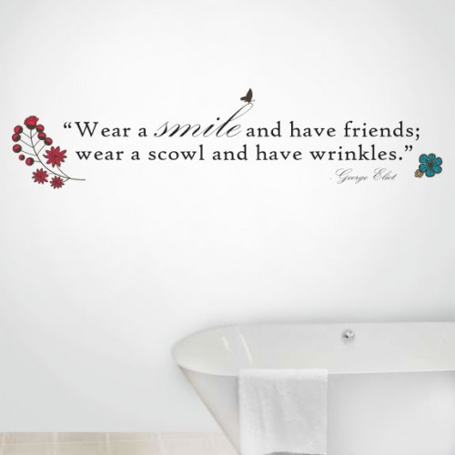 View Product Wear A Smile Wall Decal