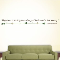 Happiness Bad Memory Wall Decal