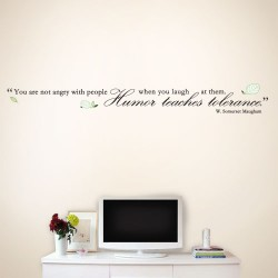 Humor Teaches Tolerance Wall Decal