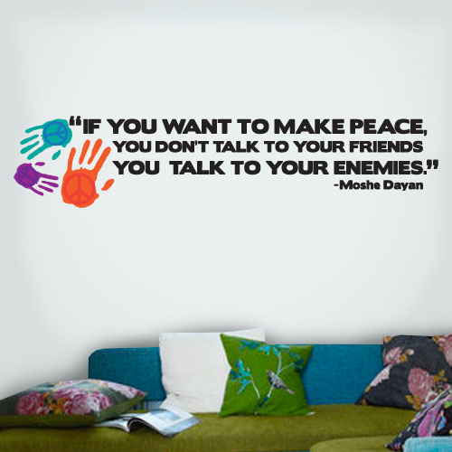 View Product Peace Friends Enemies Wall Decal