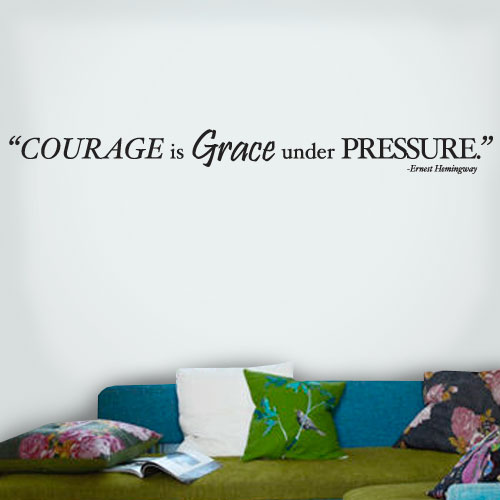 View Product Courage Grace Pressure Wall Decal