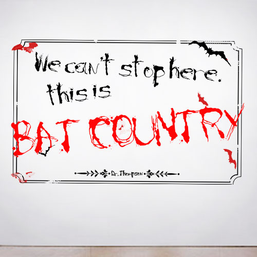 View Product Bat Country Wall Decal