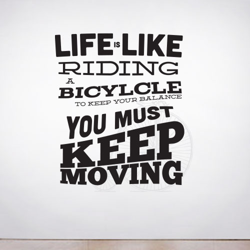 View Product Like Riding a Bike Wall Decal