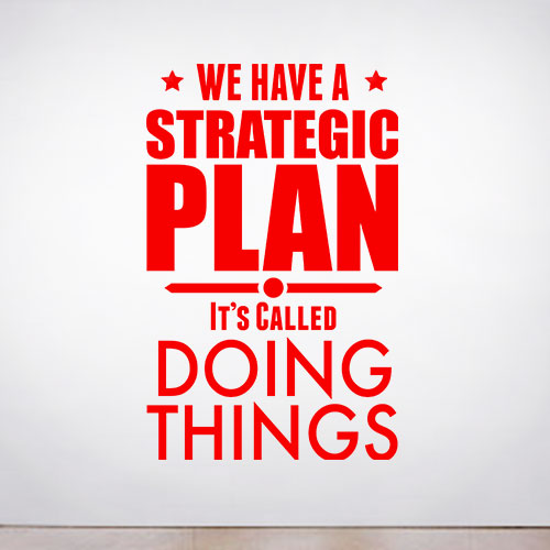 View Product A Strategic Plan Wall Decal