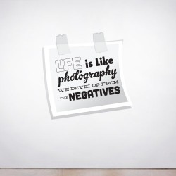 Life is like Photography Wall Decal