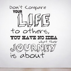 Don't Compare Wall Decal