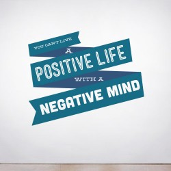 You can't live a Positive Wall Decal