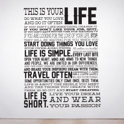 This is your Life Wall Decal