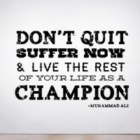 Don't Quit, Suffer Wall Decal