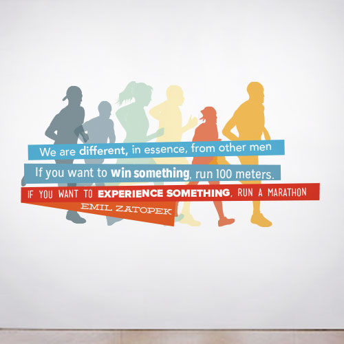 View Product Marathon Wall Decal