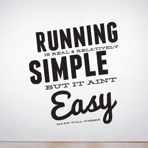 View Product Running is Simple Wall Decal