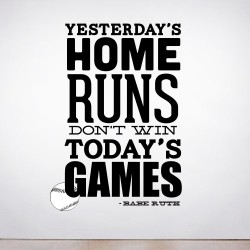 Yesterdays Home Runs Wall Decal