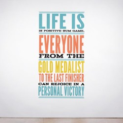 Positive Sum Wall Decal