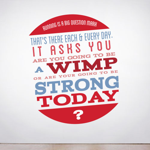 View Product Running is a Question Wall Decal