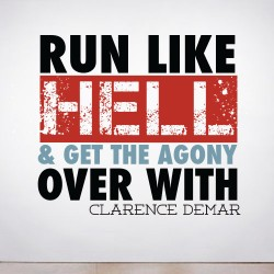 Run Like Hell Wall Decal