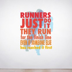 Runners Just Do It Wall Decal
