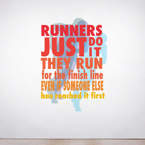 View Product Runners Just Do It Wall Decal