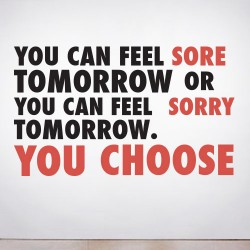 Sore or Sorry Wall Decal
