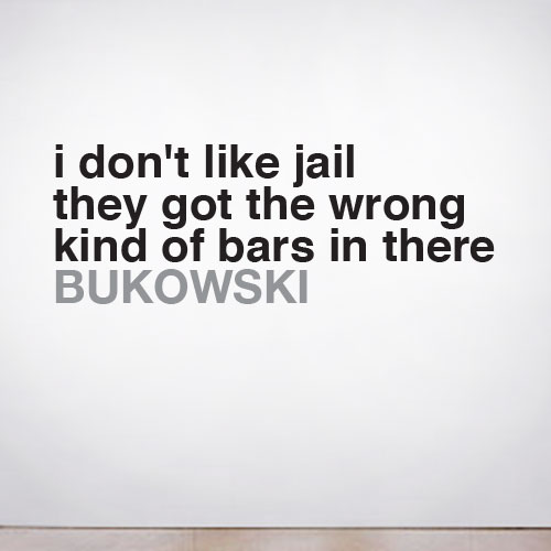View Product I don't Like Jail Wall Decal
