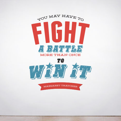 View Product Fight your Battles Wall Decal
