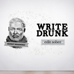 Write Drunk Wall Decal