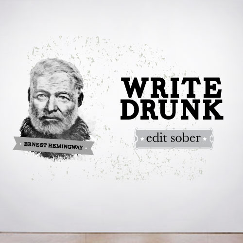 View Product Write Drunk Wall Decal