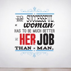 To be successful Wall Decal