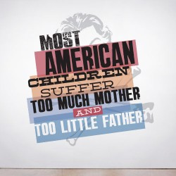 Most American children Wall Decal