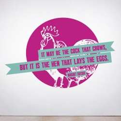 The Hen lays the Eggs Wall Decal