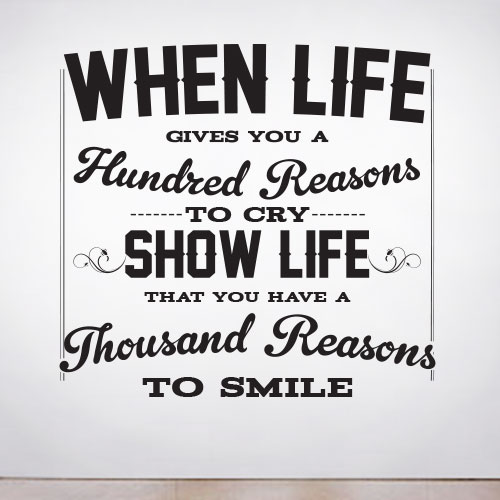 View Product A Thousand Reasons to Smile Wall Decal