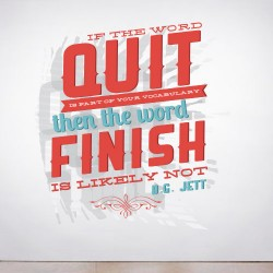 The Word Quit Wall Decal
