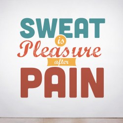 Sweat is Pleasure Wall Decal