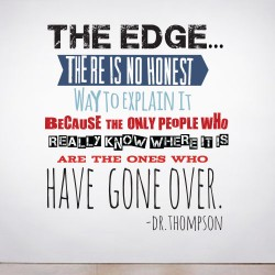 The Edge Wall Decal