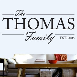 Customizable Family Name Wall Decal