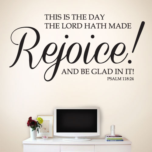 View Product This is the day the Lord hath made Wall Decal