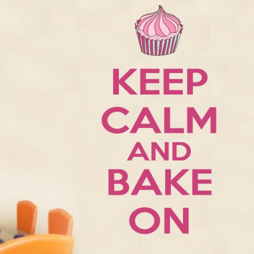 View Product Keep Calm Bake On Wall Decal