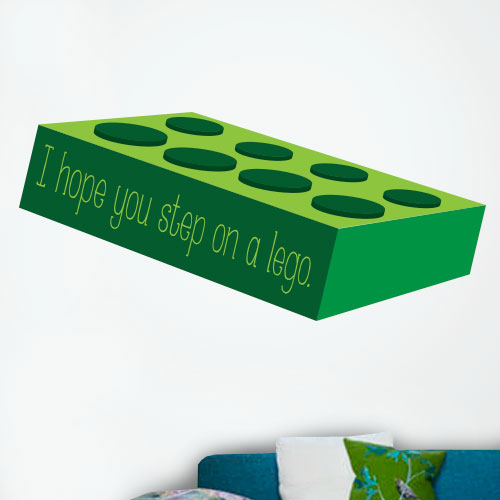 View Product Step On A Lego Wall Decal