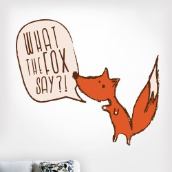 What The Fox Say Wall Decal