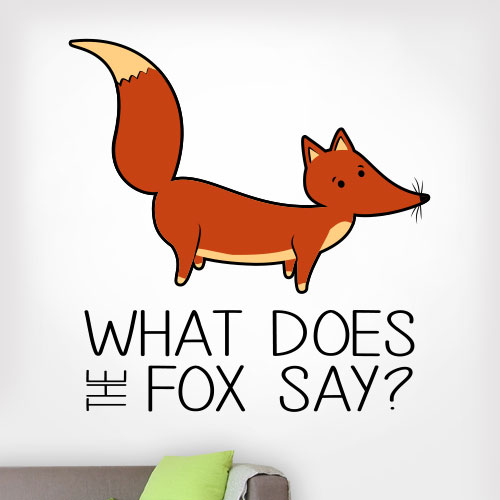 View Product What Does The Fox Say Wall Decal