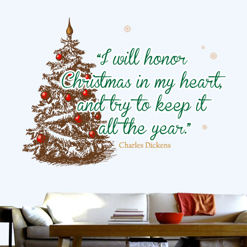 View Product I Will Honor Christmas Wall Decal