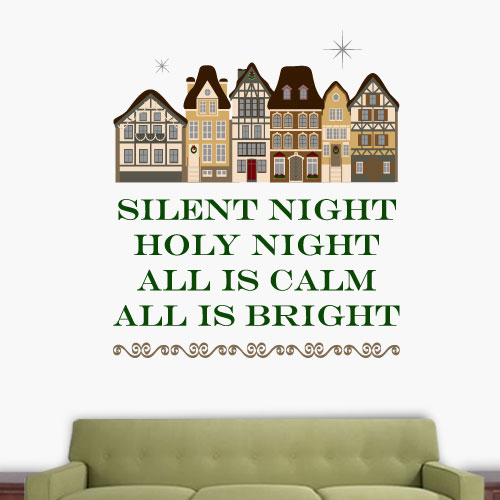 View Product Silent Night Wall Decal