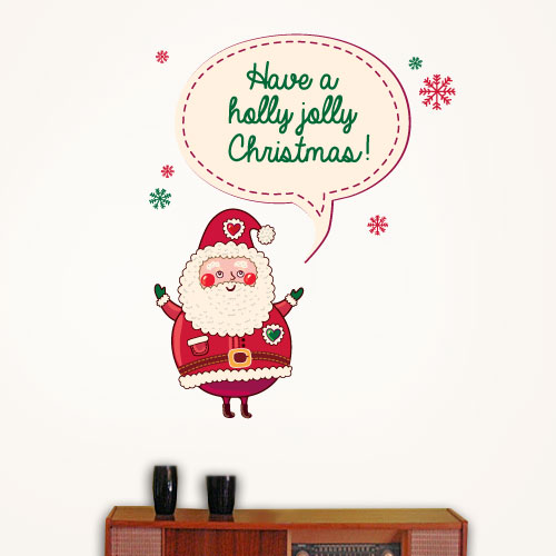 View Product Holly Jolly Christmas Wall Decal