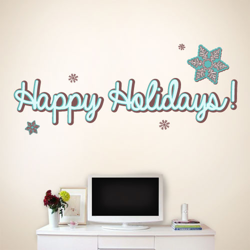 View Product Happy Holidays Wall Decal
