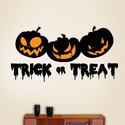 Trick Or Treat Pumpkins Wall Decal