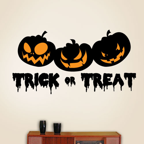 View Product Trick Or Treat Pumpkins Wall Decal