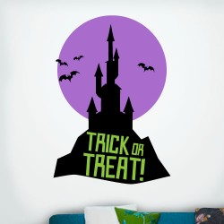 Trick Or Treat Haunted House Wall Decal